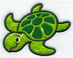 Emblibrary beach page 4 Turtle Applique