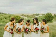 White bridesmaids :)