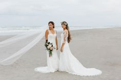 Beach Wedding inspiration on the blog today! @TheHeirloom created this stunning styled shoot for all our beach boho brides to be! <3  Gowns by @maggiesotterodesigns  #beachwedding #maggiesottero #boho #brides #weddinginspo