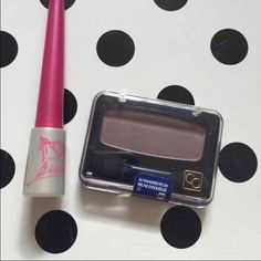 Make up duo Sephora white shadow pot and cover girl plum shadow. Beautifully compliment each other! Sephora Makeup Eyeshadow