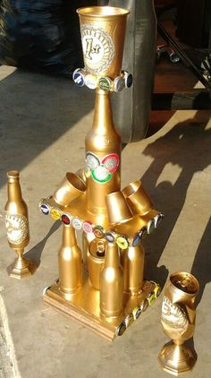"Special order - trophies for a ""Beer Olympics"" party."