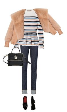 """Untitled #194"" by afivahapriani on Polyvore featuring Acne Studios, Lela Rose, Hermès, Grenson, Dolce&Gabbana and Balmain"