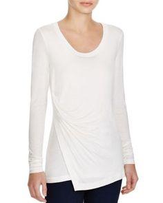 Elie Tahari Brittany Draped Overlay Shirt | bloomingdales.com