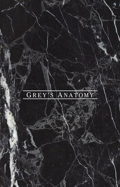 GREY'S ANATOMY - BLACK MARBLE