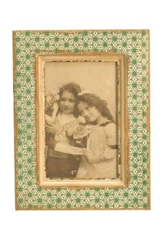 Whimsy Green Wooden Picture Frame by Iron Trade Imports on @HauteLook