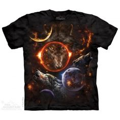 Tricouri The Mountain – Tricou Cosmic Wolves