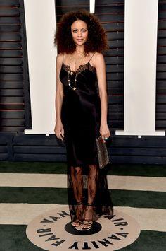 Thandie Newton à la soirée post-Oscars organisée par le magazine Vanity Fair