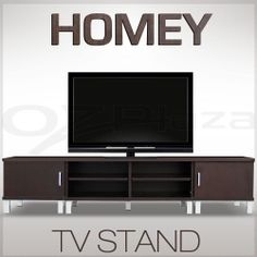 TV Stand Plasma LCD LED Lowline Unit Cabinet Drawer Chestnut Brown