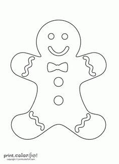 Gingerbread man template printable large free download maxwellsz