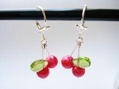 RED CHERRIES dangle earrings by Spellkiss, via Flickr