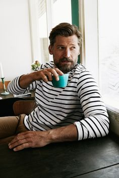 Actor Nikolaj Coster-Waldau is photographed at on dossier # Kn Oliver Knauer Mode Masculine, Beautiful Boys, Beautiful People, Nikolaj Coster Waldau, Style Masculin, Photo Portrait, Jaime Lannister, Gentleman Style, Dapper Gentleman