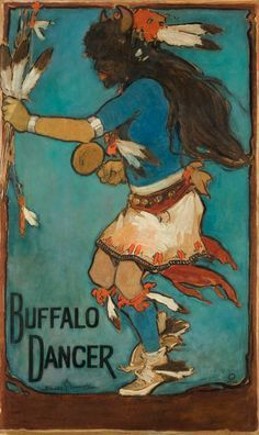 Buffalo Dancer Gerald Cassidy, Buffalo Dancer, 1922, Casein on Paper.jpg