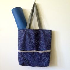A personal favorite from my Etsy shop https://www.etsy.com/listing/468203736/navy-blue-tote-bag-yoga-tote-blue-tote