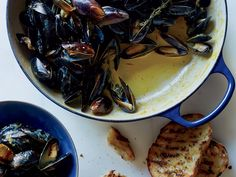 Mussels with Saffron and Citrus | Saffron lends Mediterranean flavor and a golden hue to these mussels, while orange and lemon zests brighten up the dish.
