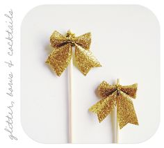 clever holiday cocktail bows