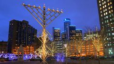 You haven't lived here until... you go to a menorah lighting. Detroit Free Press