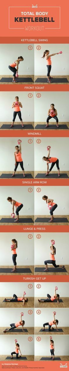 This full body kettlebell workout gets you started with some of the basic moves.