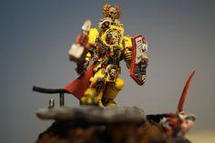 Lysander dont l'armure d'un jaune plus claire dénotera de ses frères sur le champ de bataille qui eux de part leurs armures éprouvées nous aiderons à imaginer l'enfer que pût avoir enduré cet escouade