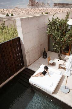 Damsel in Dior Amangiri Resort Utah, Hotel Airbnb, Desert Homes, Stone Houses, Interiores Design, Humble Abode, Exterior Design, Modern Architecture, Custom Homes