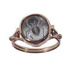 A Rock Crystal Intaglio Spider Ring, circa 1900
