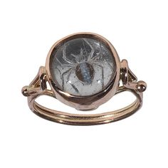 A Rock Crystal Intaglio Spider Ring, circa 1900 #jewellery #ring