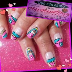 Toe Nails, Nail Designs, Make Up, Nail Art, Gel Nail, Ideas Para, Diana, David, Art Nails