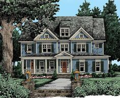 Farmhouse House Plan with 3574 Square Feet and 5 Bedrooms(s) from Dream Home Source | House Plan Code DHSW53467