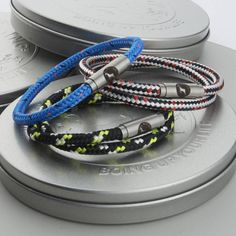Boing bands are unique, stylish and the most hardwearing accessory you will ever purchase. With personalisation for an additonal £5 and free branded tin.We can make you Boing Band even more special by personalising it for you with a short message name or date engraved onto the underside of the clasp. This makes them the ideal gift for anyone who leads an active life that you would like to send your thoughts to, be it; 'safe travels', 'my hero', or simple initials or date to mark an…