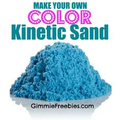Your Own Kinetic Sand lbs for 50 cents!) Make Your Own COLORED Kinetic Sand lbs for 50 cents) using stuff you have at home! Easy and cheap!Make Your Own COLORED Kinetic Sand lbs for 50 cents) using stuff you have at home! Easy and cheap! Projects For Kids, Diy For Kids, Cool Kids, Crafts For Kids, Classroom Projects, Craft Projects, Sand Projects, Preschool Classroom, Preschool Learning