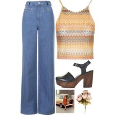 Jackie Burkhart by hollieporter on Polyvore featuring мода, Topshop, vintage, boho, topshop, 70 and jackieburkhart