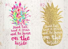 Lily Pulitzer Pineapple Decal Be like a by JamsVinylDesigns