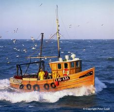 Fishing Boat Respect, Seahouses, Northumberland – Famous Last Words Ocean Fishing Boats, Fishing Boats For Sale, Small Fishing Boats, Ice Fishing, Fishing Rod, Fishing Bobbers, Fishing Games, Fishing Knots, Boat Drawing Simple