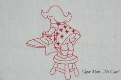 Super Mom – No Cape! » Blog Archive » Stitch-A-Long – Vintage Chore Girls Week #2