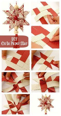 54 Ideas For Diy Christmas Paper Ornaments Origami Stars Diy Christmas Star, Origami Christmas Ornament, Christmas Paper Crafts, Christmas Projects, Holiday Crafts, German Christmas Decorations, German Christmas Ornaments, Christmas Trees, Paper Crafts Origami