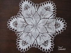 10 handmade knitted lace doily placemat Ivy by BloomingNeedles