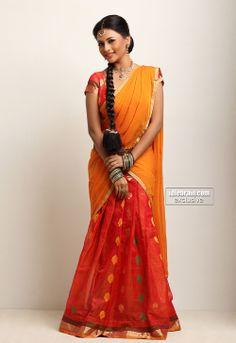 South indian half saree