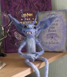Cornish pixie,Harry potter inspired needle felted collectable,custom order by WaggledanceArt on Etsy