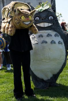 The most amazing Totoro costume ever. (Also the catbus!)