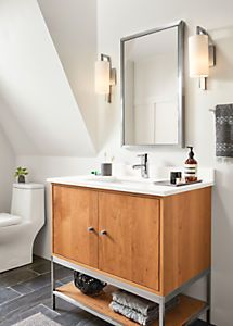 linear steel base bathroom vanity cabinets with top in 2019 art rh pinterest com