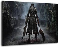 bloodborne formato di gioco 80x60 cm pittura PS4 su tela, XXL Immagini enormi completamente Pagina con la barella, incorniciatura sulla foto muro con telaio