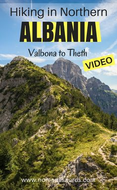 Don't miss this hike off your list when you travel to Albania. Just watch our video and you will see. Beautiful scenery and great big mountains. This is a one day hike in Northern Albania from Valbona to Theth. Definitely some of the most beautiful hiking in Albania.