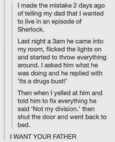 Living in an episode of Sherlock.