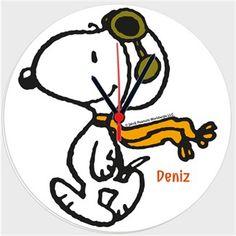 Pilot Snoopy - Duvar Saati 27cm