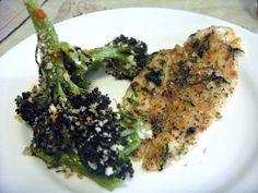 Baked Italian Flounder with Spicy Oven Roasted Broccoli (Pesce al Forno con Broccoli Piccante) -