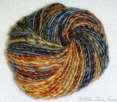 Dream Weaver Handspun Yarn - 156 yards - Single Ply - Knitting - Crochet - Weaving - Mixed Media - Fiber Arts - Textile Arts, etc. by AFiberLoveJones on @Etsy