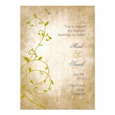 ShoppingVintage Sweet Vine Golds II Wedding Invitationtoday price drop and special promotion. Get The best buy