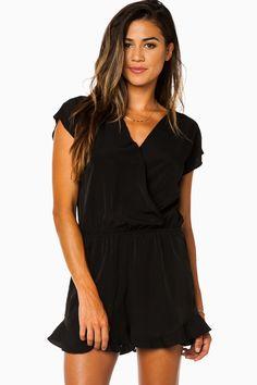 ShopSosie Style : Elise Romper in Black