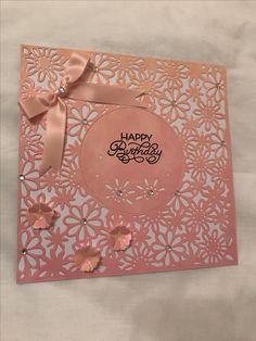 Die'sire Daisy Dreams  Happy Birthday on Ombre card