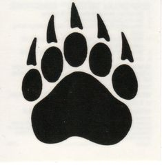 Paw Print Tattoo - 250+ Picture Ideas Simbolos Tattoo, Claw Tattoo, Tattoo Drawings, Paw Print Art, Bear Paw Print, Bear Paw Tattoos, Moose Tattoo, Animal Tattoos, Polar Bear Paw