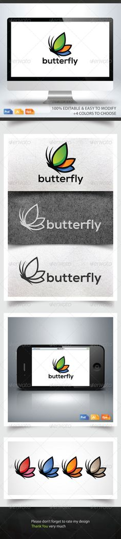 Butterfly Logo #GraphicRiver File Description Bevouliin presents an elegant and stunning logo template suitable for your business and companies. This logo symbolizes strength, confidence, reliability, skill, beauty and dedication. File Information Available in AI, Adobe Photoshop PSD, and EPS formats, please contact me if you need another format. Texts are fully editable. Color mode: CMYK. Logo is 100% Editable and Re-sizable vectors. +4 Colors to choose. Black and white version included…